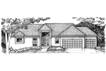 Sunbelt Home Plan Front of Home - 072D-0966 | House Plans and More