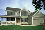 Farmhouse Style Two-Story With Deep Wrap-Around Porch