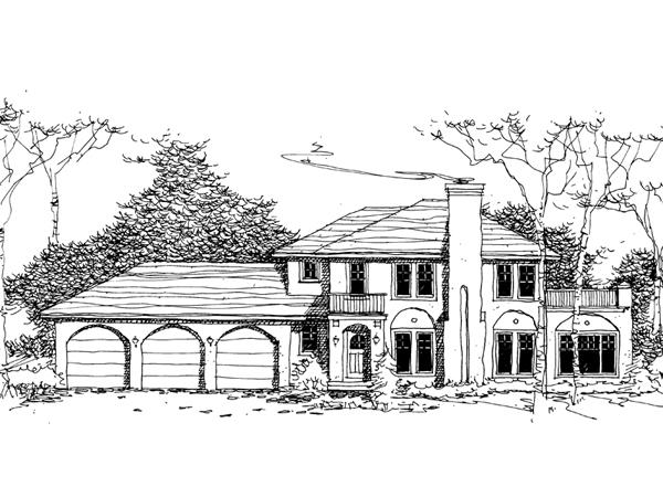 Fond Du Lac European Home Plan 072d 0983 House Plans And More
