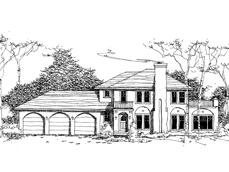 Sunbelt Home Plan Front of Home - 072D-0983 | House Plans and More