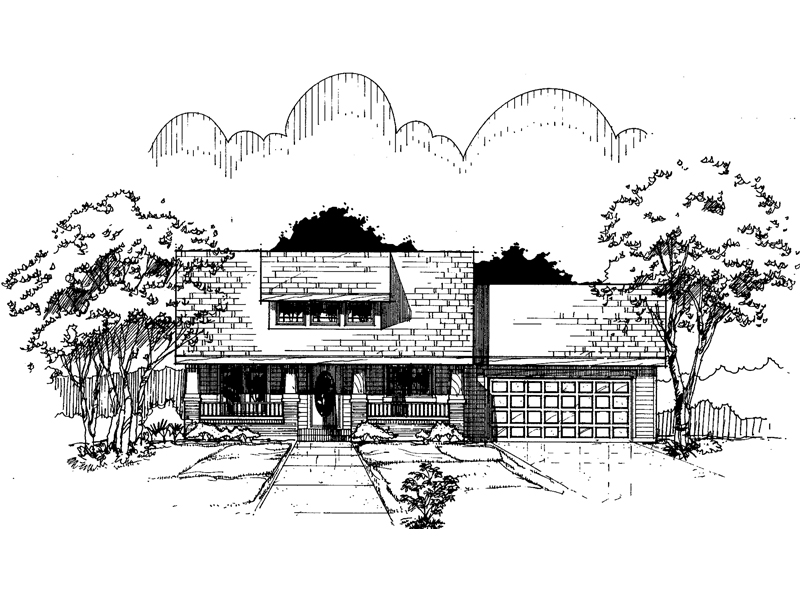 Traditional House Plan Front of Home - 072D-0988 | House Plans and More