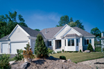 Ranch House Plan Front of Home - 072D-0989 | House Plans and More