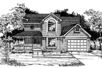 Traditional House Plan Front of Home - 072D-0990 | House Plans and More