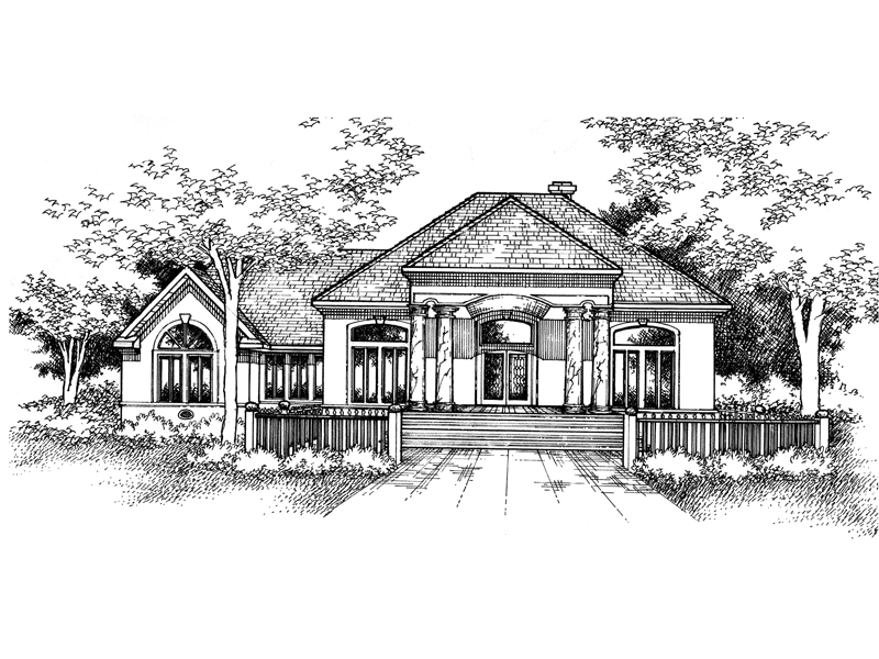Southern House Plan Front of Home - 072D-0991 | House Plans and More