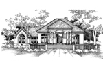 Ranch House Plan Front of Home - 072D-0991 | House Plans and More