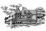 Victorian House Plan Front of Home - 072D-0992 | House Plans and More