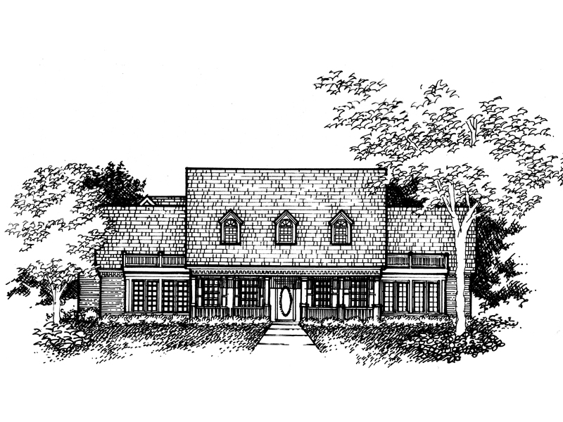 Southern House Plan Front of Home - 072D-0993 | House Plans and More