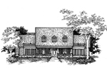 Southern Plantation Plan Front of Home - 072D-0993 | House Plans and More