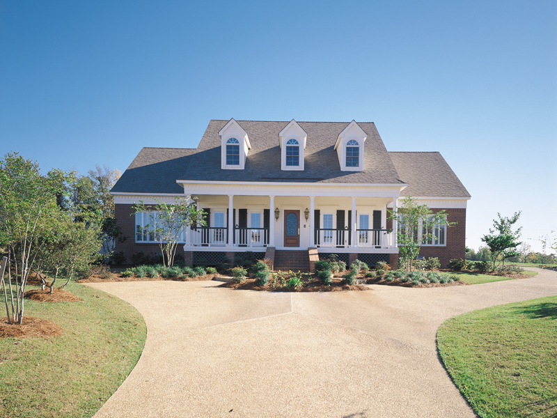 Southern Plantation Plan Front of Home 072D-0994