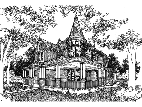 Kirkland old world home plan 072d 0995 house plans and more for Old world house plans