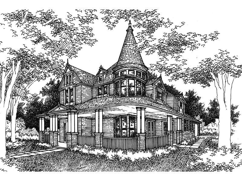 Victorian House Plan Front of Home - 072D-0995 | House Plans and More