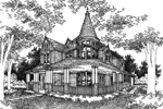 Traditional House Plan Front of Home - 072D-0995 | House Plans and More