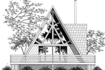 A-Frame House Plan Front of Home - 072D-0996 | House Plans and More