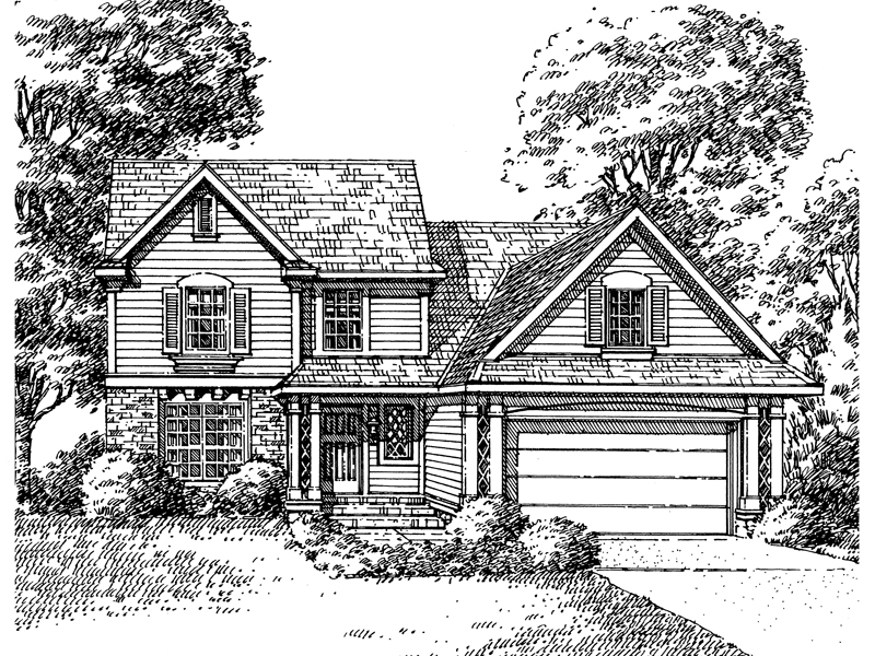 Southern House Plan Front of Home - 072D-0997 | House Plans and More