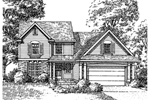 Traditional House Plan Front of Home - 072D-0997 | House Plans and More