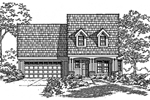 Traditional House Plan Front of Home - 072D-0998 | House Plans and More