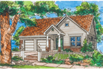 Southern House Plan Front of Home - 072D-1000 | House Plans and More