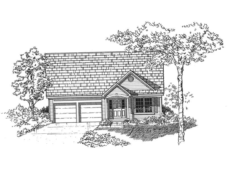 Traditional House Plan Front of Home - 072D-1001 | House Plans and More
