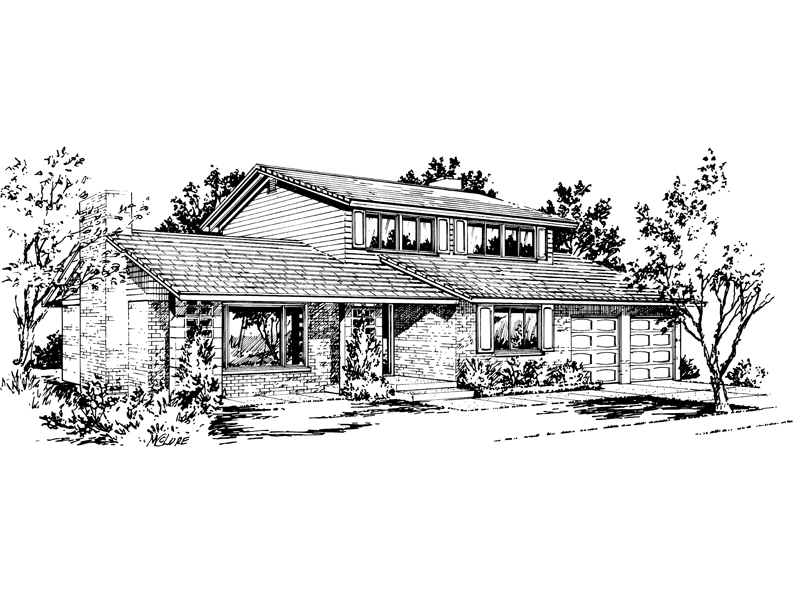 Traditional House Plan Front of Home - 072D-1003 | House Plans and More