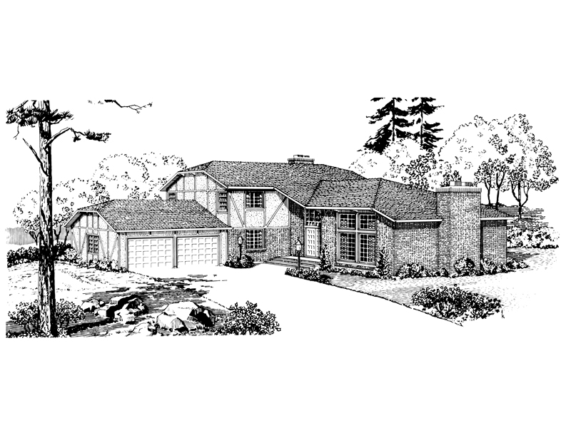 European House Plan Front of Home - 072D-1010 | House Plans and More