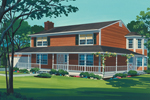 Farmhouse Plan Front of Home - 072D-1012 | House Plans and More