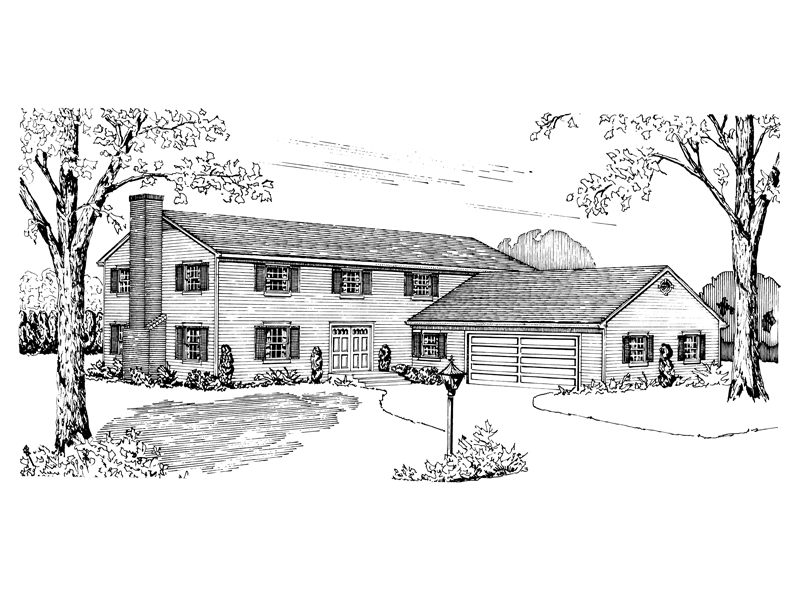 Colonial Floor Plan Front of Home - 072D-1014 | House Plans and More