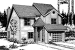 Traditional House Plan Front of Home - 072D-1023 | House Plans and More