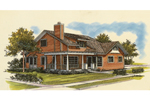 Farmhouse Plan Front of Home - 072D-1024 | House Plans and More
