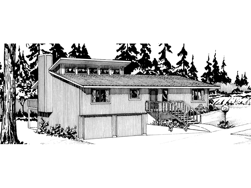 Mountain Home Plan Front of Home - 072D-1029 | House Plans and More