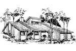 Ranch House Plan Front of Home - 072D-1032 | House Plans and More