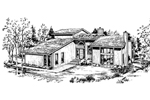 Traditional House Plan Front of Home - 072D-1033 | House Plans and More