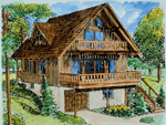 Rustic Home Plan Front of Home - 072D-1036 | House Plans and More