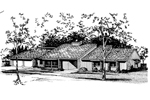 Ranch House Plan Front of Home - 072D-1039 | House Plans and More