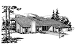 Mountain Home Plan Front of Home - 072D-1041 | House Plans and More
