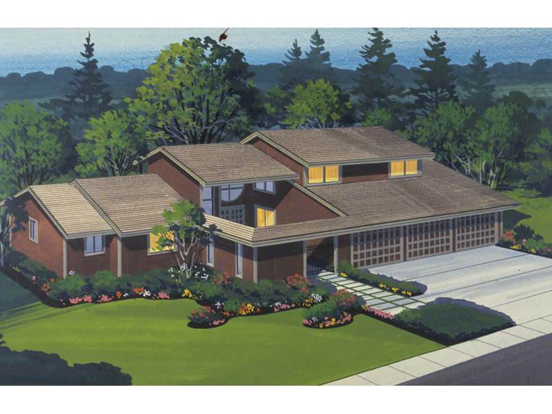 Rustic Home Plan Front of Home - 072D-1054 | House Plans and More