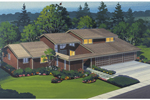 Southern House Plan Front of Home - 072D-1054 | House Plans and More