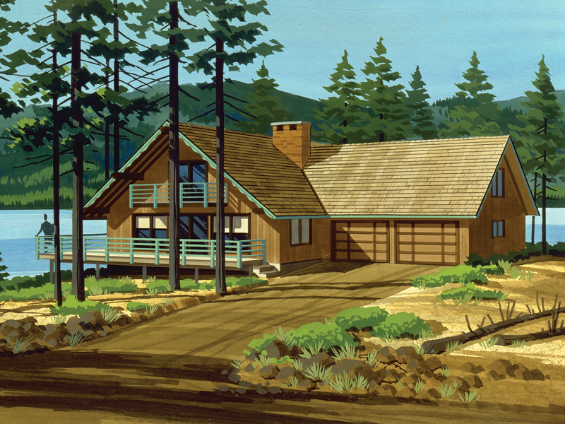 Sioux Trace Chalet Home Plan 072d 1063 House Plans And More