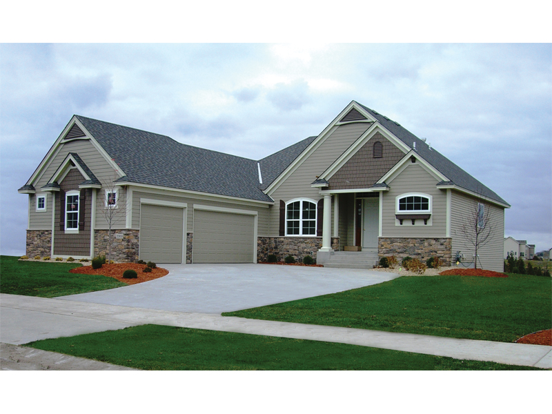 Country French Home Plan Front of Home 072D-1110