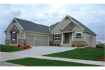 Ranch House Plan Front of Home - 072D-1110 | House Plans and More