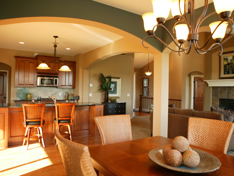 Ranch home plans with cathedral ceilings for Great room home designs