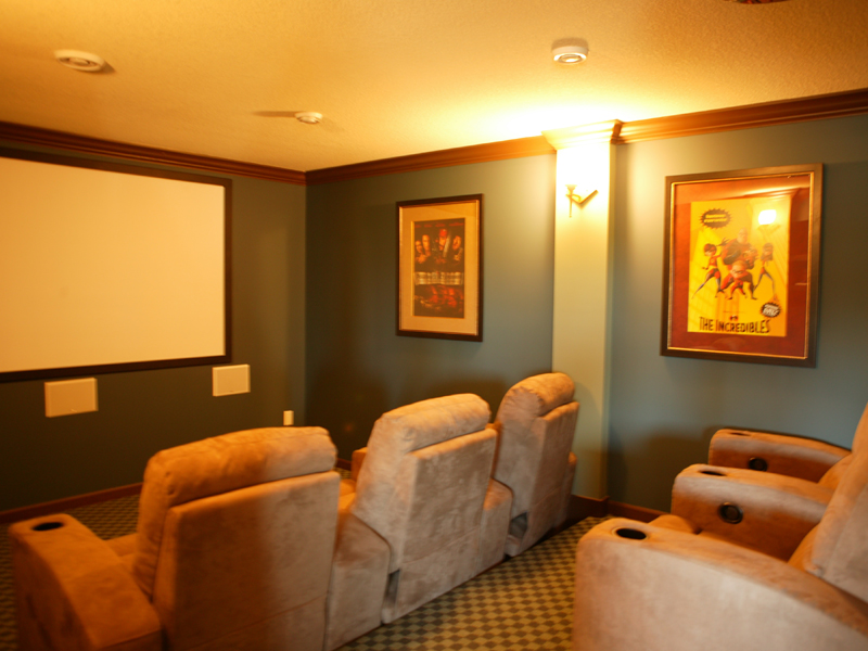 Ranch House Plan Theater Room Photo 02 072D-1111
