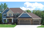 Craftsman House Plan Front of Home - 072D-1114 | House Plans and More