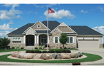 Ranch House Plan Front of Home - 072D-1116 | House Plans and More