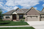 Ranch House Plan Front of Home - 072D-1120 | House Plans and More