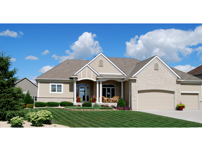 Ranch House Plan Front Photo 01 072D-1120