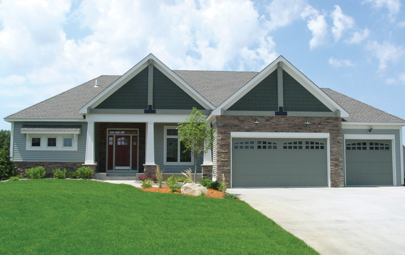 Ranch House Plan Front Photo 01 072D-1124