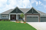 Ranch House Plan Front Photo 01 - 072D-1124 | House Plans and More