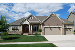 Ranch House Plan Front of Home - 072D-1125 | House Plans and More