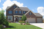 Early American House Plan Front of Home - 072D-1130 | House Plans and More