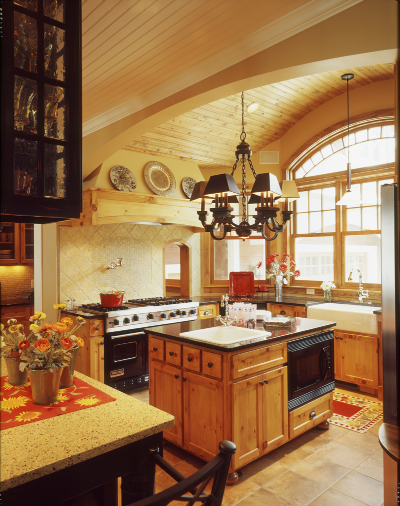 English Tudor House Plan Kitchen Photo 01 072S-0001